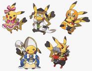 Cosplay Pikachu costumes