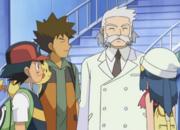 Ash, Brock, Professor Rowan and Dawn