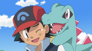 Ash and Totodile