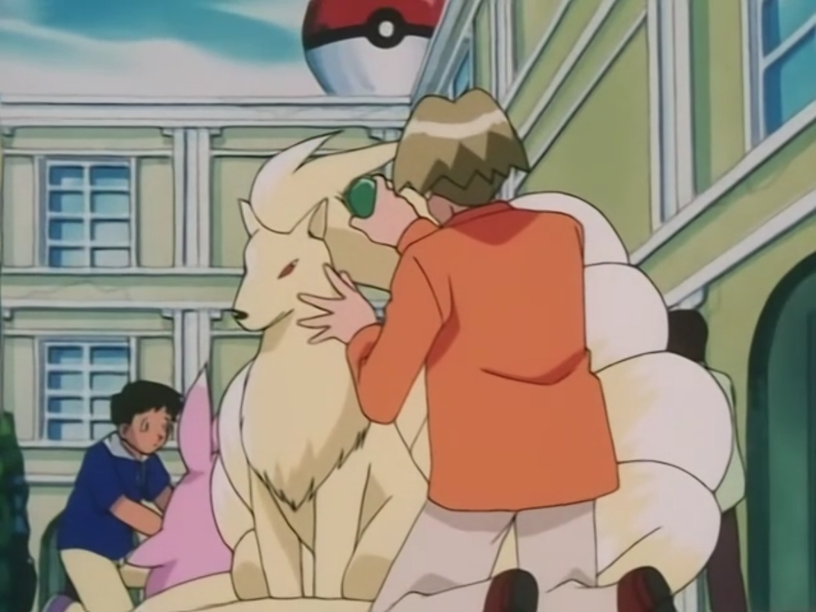 Zane started with a Vulpix, which he trained it to evolve. Zane entered his Ninetales in a Beatuy contest.