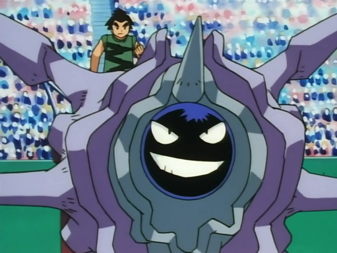Pete used his Cloyster to battle Ash's Kingler. Cloyster did not attack at all during the battle, instead focusing on defense in the hopes of wearing Kingler out. However, Kingler just kept pounding it with Crabhammer until it cracked its shell and Cloyster fainted.