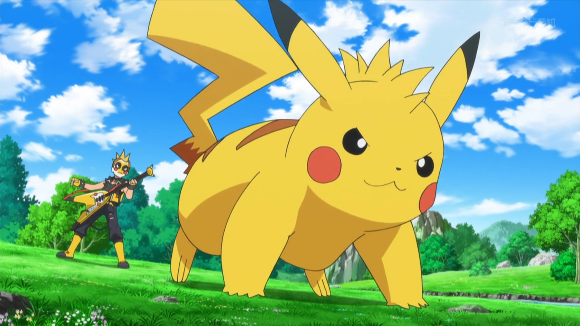 Jimmy had a Pikachu with a mohawk hairstyle, nicknamed Spike. Jimmy used Spike to battle against Serena and Pikachu.