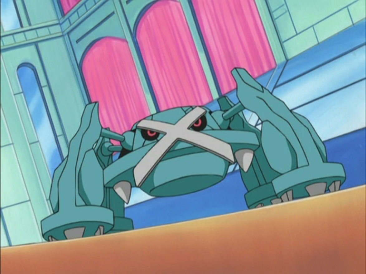 Metagross was first seen in Ash's first battle against Anabel, where it easily defeated Ash's Pikachu.