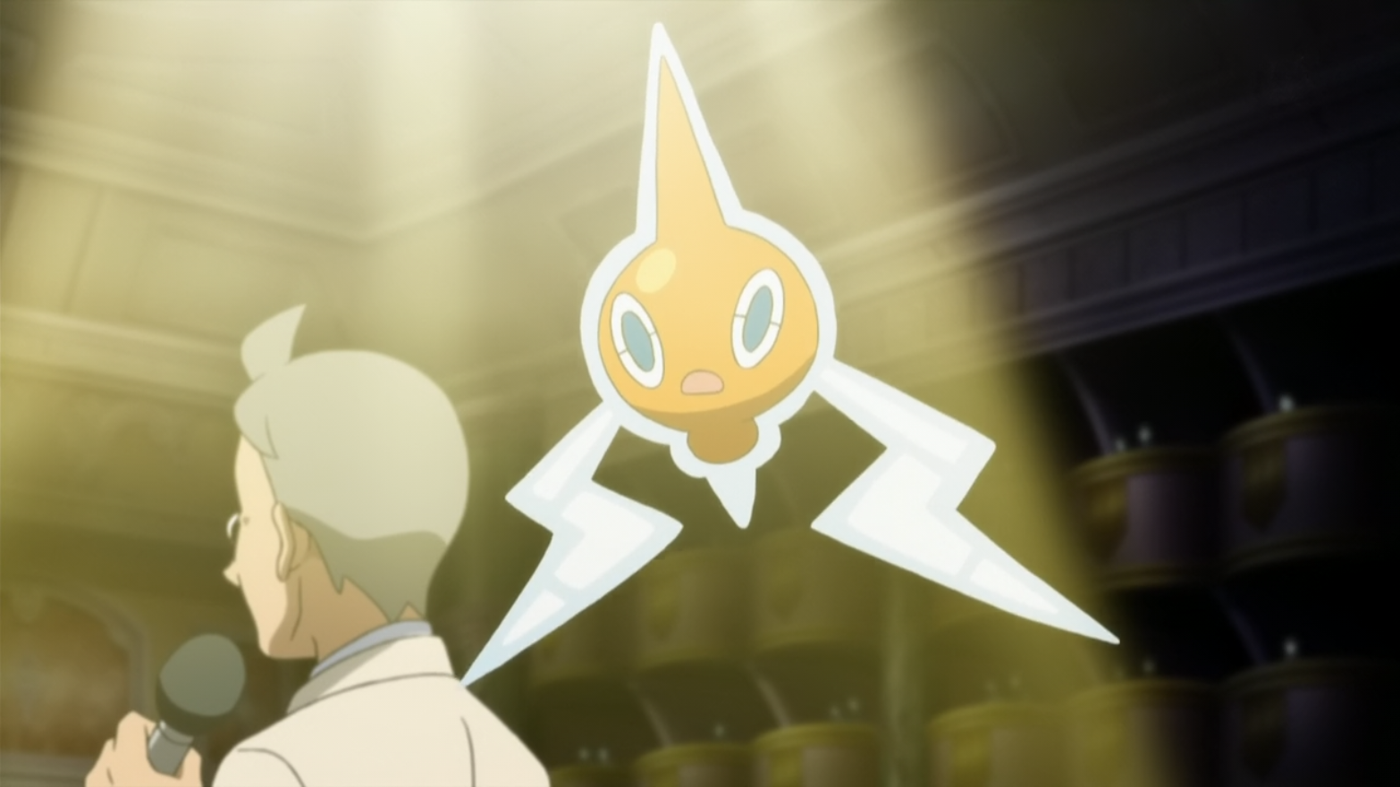 Weston had a Rotom, who was scared several years ago from Mantle's Krookodile, causing Weston to lose the hotel. With the help of the heroes, Rotom came back in time and battled with Weston, assuming the forms of Fridge, Mow and Wash Rotom.