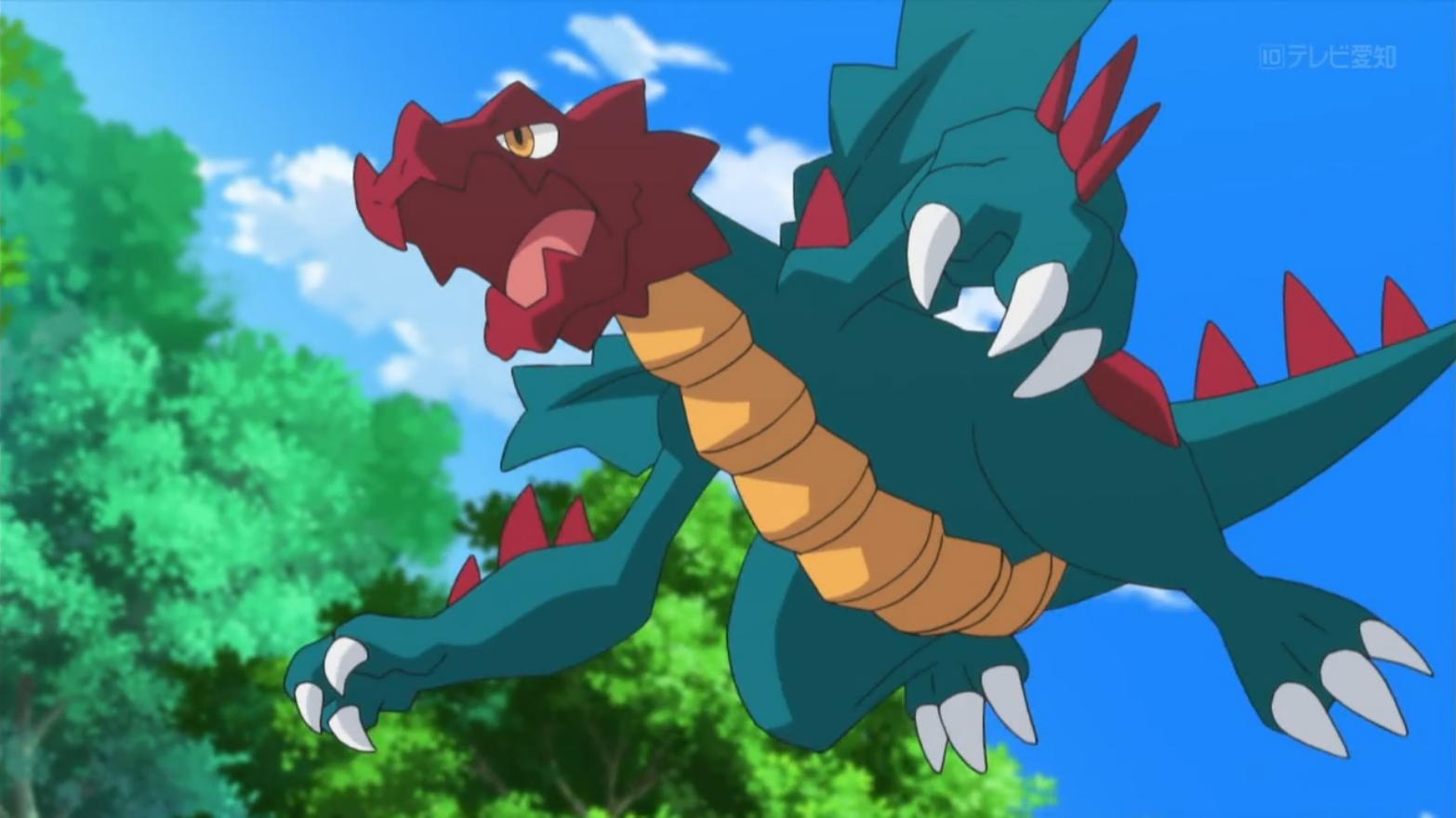 Aliana uses Druddigon during her battles.