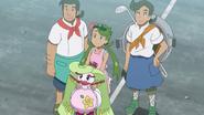 Mallow with Abe, Ulu and Tsareena