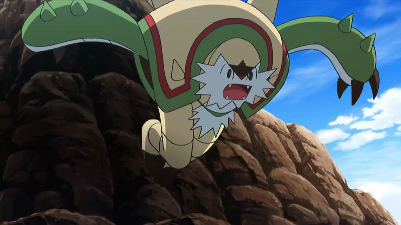 Chapman had a Chesnaught, whom he left to his grandson and Robon to protect them both.