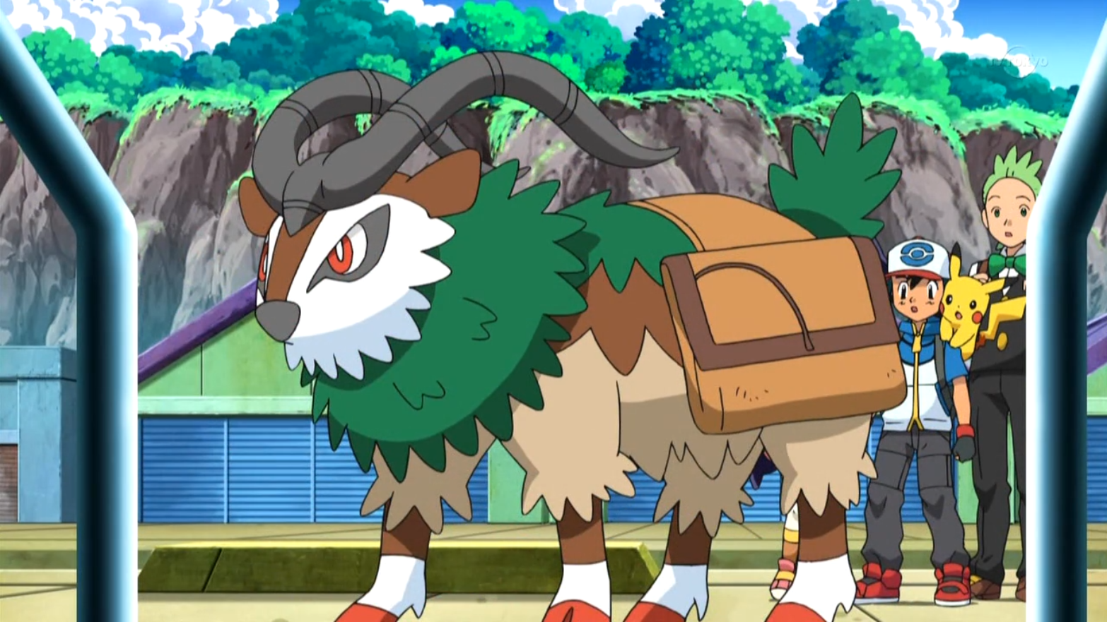 Gogoat took Tony to the mountains before being found by Ash and Alexa.