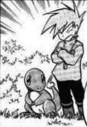 Blue with his charamander