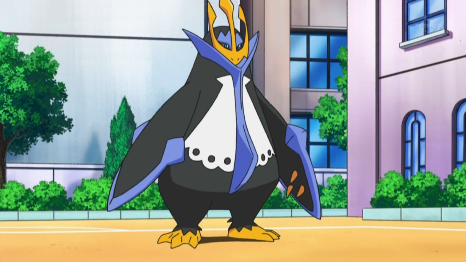 Having evolved from his Prinplup in the run up to the Grand Festival, Empoleon was used during the appeal round. Like before, it is Kenny's powerhouse and has many powerful attacks including Metal Claw, Bubble Beam, Mist and Flash Cannon allowing it to be an incredibly strong Pokémon within Kenny's team.