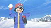 Ash snow wear Sun and Moon
