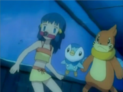 Dawn, Piplup and Buizel Underwater