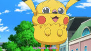 Inkay dressed as Pikachu