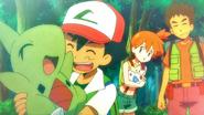 Ash and Larvitar flashback