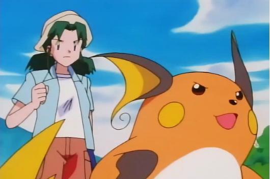 Katrina had a Raichu, who battled Ash's Pikachu, before it was captured by Team Rocket, though Raichu electrocuted them.