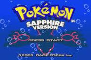 Sapphire title screen