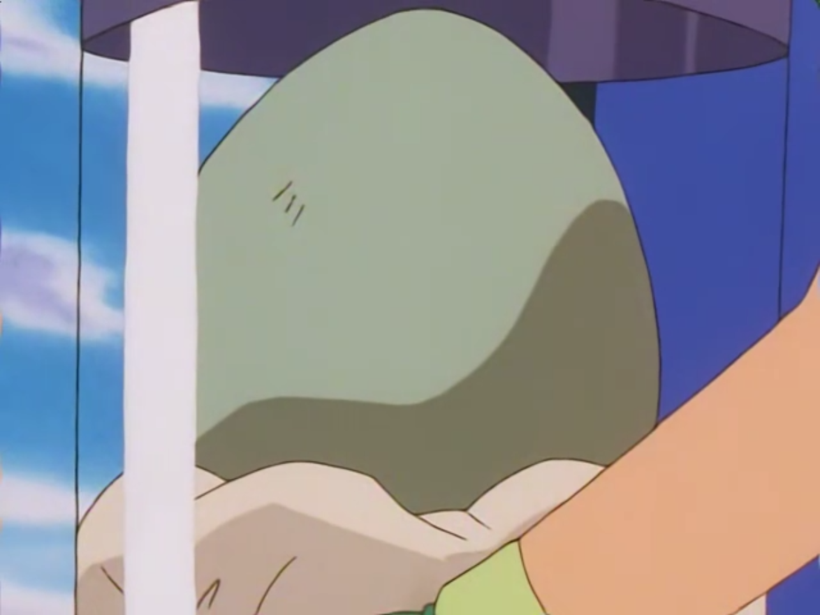 Naomi gave Ash an egg, who needed to carry it to Prof. Elm.