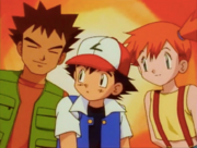 Ash and his two friends