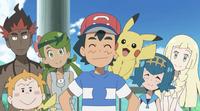 Ash with his Alola companions