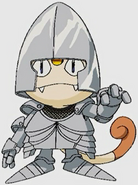 Meowth as a Knight