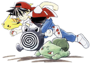 Red and his Pokemon
