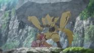 Tyr saving a human girl and a pokemon