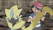 Ash cuddling Tyr's tail