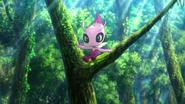Shiny Celebi anime