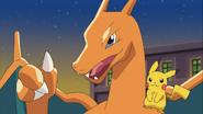 Pikachu and Charizard