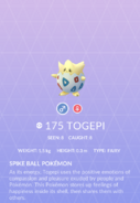 Togepi Pokedex