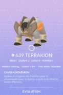 Terrakion Pokedex