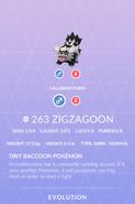 Zigzagoon Galarian Pokedex