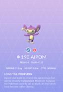 Aipom Pokedex