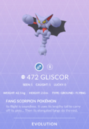 Gliscor Pokedex