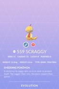 Scraggy Pokedex