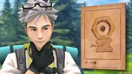 Professor Willow with ancient Meltan illustration