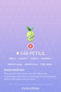 Petilil Pokedex