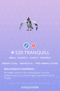 Tranquill Pokedex