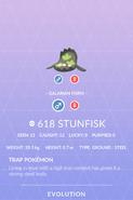 Stunfisk Galarian Pokedex