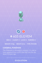 Elgyem Pokedex