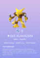 Alakazam Pokedex