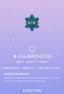 Bronzor Pokedex