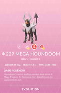 Houndoom Mega Pokedex