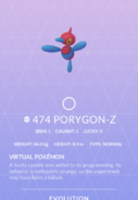 Porygon-Z Pokedex