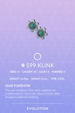 Klink Pokedex
