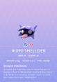 Shellder Pokedex