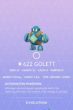 Golett Pokedex
