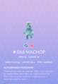 Machop Pokedex