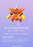 Magmortar Pokedex
