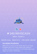 Whiscash Pokedex